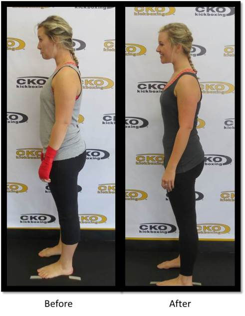 Noticeable difference on her waist!
