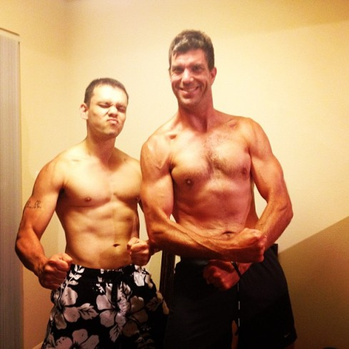 No Suuuuuugar! Robert and Jon enjoying their new abs!