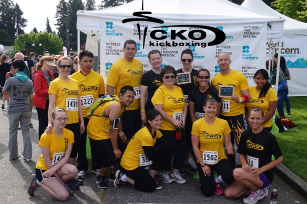 Shannon on Team CKO for the World Concern 5K